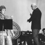 Ann on stage performing Golden Cockerel with Ezra and the Fort Worth Symphony Orchestra 1969
