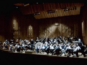 Ann and Ezra rehearsing with the London Symphony Orchestra, Barbican Hall, London 1986