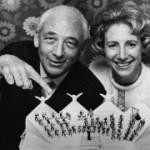 Ann & Ezra with Orchestra Wedding Cake, May 1969